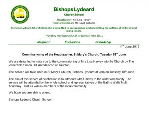 Commissioning Service of Headteacher, St Mary's Church - 18th June