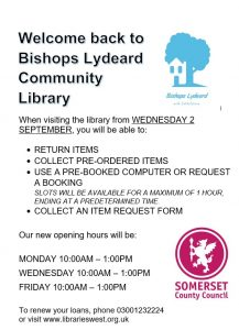 Library Re-Opening - 2nd September