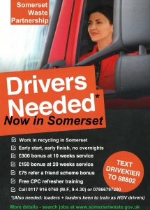 Somerset Waste Partnership - Driver Vacancies
